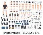 football or soccer player... | Shutterstock .eps vector #1170657178