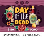 dead day party announcement... | Shutterstock .eps vector #1170665698
