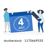 characters of people and fourth ... | Shutterstock .eps vector #1170669535