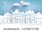 views of the house in winter.... | Shutterstock .eps vector #1170671758