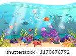 marine habitats and the beauty... | Shutterstock .eps vector #1170676792