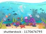 marine habitats and the beauty... | Shutterstock .eps vector #1170676795