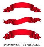 vector red ribbons.ribbon... | Shutterstock .eps vector #1170680338