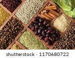 spices and herbs for decorating ... | Shutterstock . vector #1170680722
