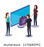 group of people teamwork with... | Shutterstock .eps vector #1170683992