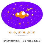 fantastic galaxy with unknown...   Shutterstock .eps vector #1170685318