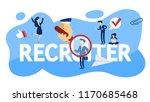 recruiter concept. choosing a... | Shutterstock .eps vector #1170685468