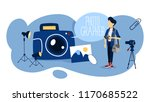 photographer concept.... | Shutterstock .eps vector #1170685522