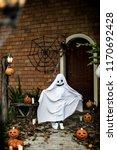 ghost costume for halloween... | Shutterstock . vector #1170692428