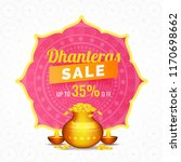 dhanteras sale template or... | Shutterstock .eps vector #1170698662