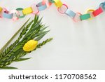 jewish festival of sukkot.... | Shutterstock . vector #1170708562