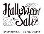halloween sale illustration.... | Shutterstock .eps vector #1170709345
