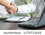 business people negotiate and... | Shutterstock . vector #1170711655