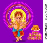 happy ganesh chaturthi.... | Shutterstock .eps vector #1170719035