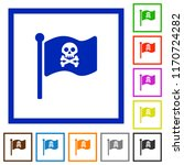 pirate flag flat color icons in ... | Shutterstock .eps vector #1170724282