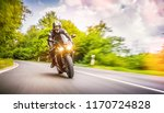 motorbike on the forest road...   Shutterstock . vector #1170724828
