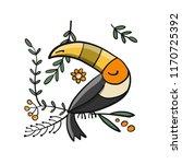 toucan  paradise tropical bird... | Shutterstock .eps vector #1170725392