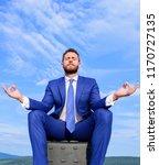 businessman formal suit sit on... | Shutterstock . vector #1170727135