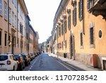 long city street in perspective ... | Shutterstock . vector #1170728542