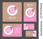set of corporate branding cake... | Shutterstock .eps vector #1170729418