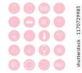 set of 20 vector icons in nive... | Shutterstock .eps vector #1170729985