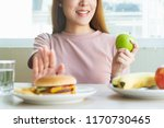 woman on dieting for good... | Shutterstock . vector #1170730465