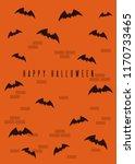 happy halloween design. blak... | Shutterstock .eps vector #1170733465
