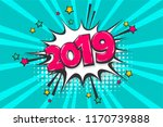 2019 happy new year christmas... | Shutterstock .eps vector #1170739888