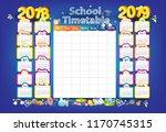 calendar and school timetable... | Shutterstock .eps vector #1170745315