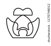 molar icon vector isolated on... | Shutterstock .eps vector #1170748012