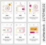 vector set of mobile app... | Shutterstock .eps vector #1170748132