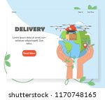 drone delivery website homepage ...