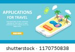 applications for travel banner  ... | Shutterstock .eps vector #1170750838