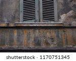 old and damaged uninhabited... | Shutterstock . vector #1170751345
