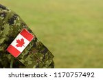 canada patch flag on soldiers... | Shutterstock . vector #1170757492