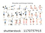 arm workout for men and women... | Shutterstock .eps vector #1170757915