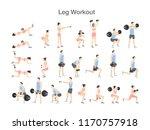 leg workout set for women and... | Shutterstock .eps vector #1170757918