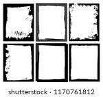 grunge border frame.grunge... | Shutterstock .eps vector #1170761812