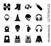 safety equipment icons  | Shutterstock .eps vector #1170764122