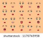 comic emotions. women facial... | Shutterstock .eps vector #1170765958