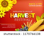 harvest festival poster design. ... | Shutterstock .eps vector #1170766138