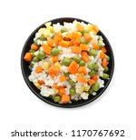 bowl with tasty boiled rice and ...   Shutterstock . vector #1170767692