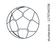 soccer ball icon vector... | Shutterstock .eps vector #1170769258