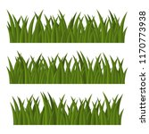 green grass borders set on... | Shutterstock .eps vector #1170773938