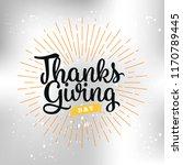 thanksgiving day. logo  text... | Shutterstock .eps vector #1170789445