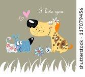 dog lovers | Shutterstock .eps vector #117079456