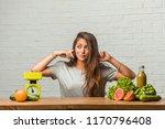 concept of diet. portrait of a... | Shutterstock . vector #1170796408