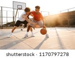 group of young sporty... | Shutterstock . vector #1170797278