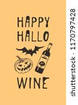 hand drawn illustration wine... | Shutterstock .eps vector #1170797428