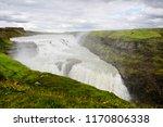 view of the gullfoss waterfall...   Shutterstock . vector #1170806338